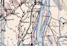 Карта из архива Б.А.Владимирова