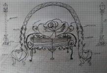 Авторский эскиз скамьи