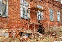 разрушение, школа, архитектура, юрьевец