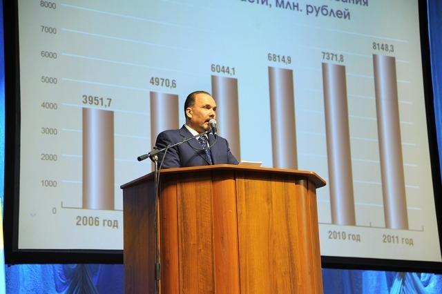 М. Мень: «В целом 2011 год был достаточно сложным, но область развивалась»