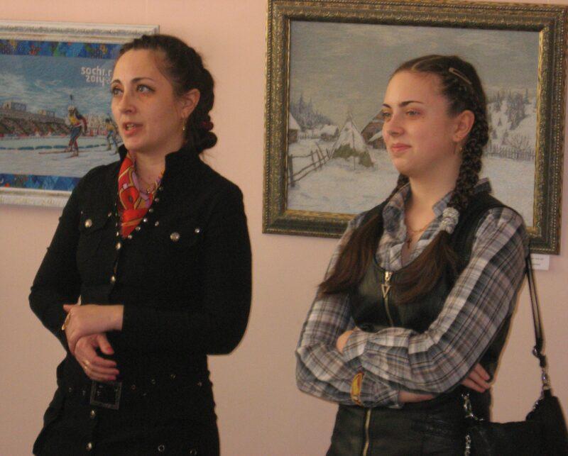 Н.А.Макарова с дочкой