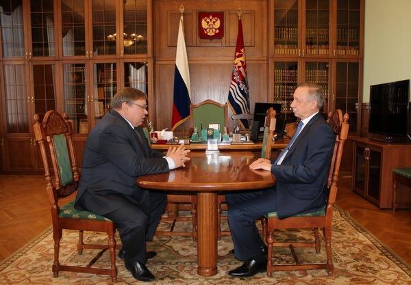 А. Беглов и  П. Коньков обсудили  актуальные вопросы  социально-экономического развития региона