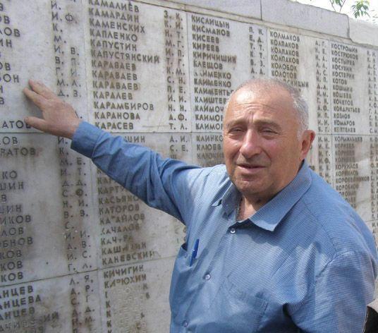 Список воинов юрьевчан погибших под Сталинградом