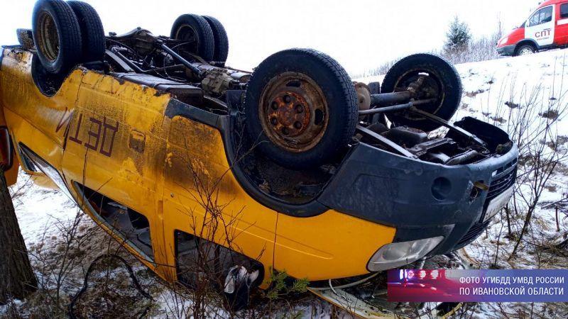 В Ивановской области перевернулся школьный автобус