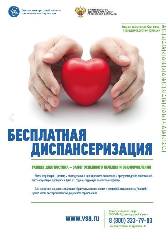 Диспансеризация взрослого населения Юрьевецкого района