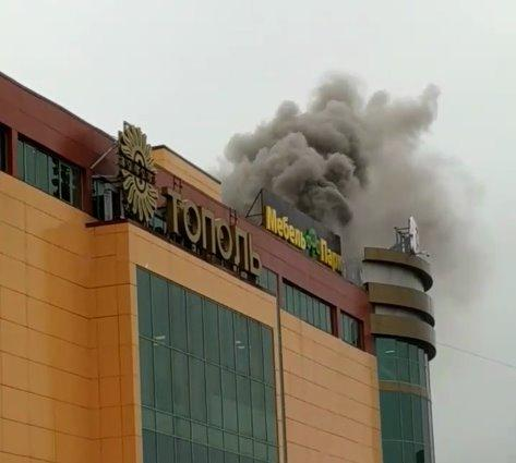 В Иванове горит торгово-развлекательный центр Тополь