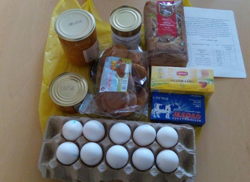 Выдача продуктовых наборов для обучающихся детей из многодетных семей с 14 мая