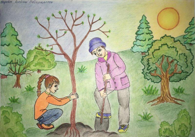 Конкурс рисунков «Сад памяти глазами детей» продлил приём заявок